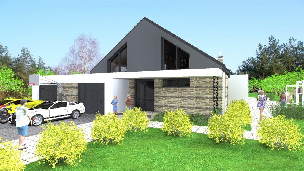 Dom w Grabinie pod Łodzią