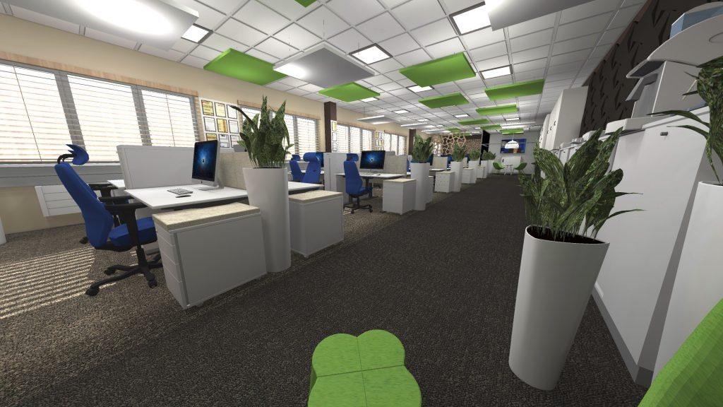Projekty wnętrz biurowych